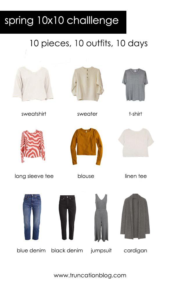 Spring 10×10 Challenge Clothing Picks