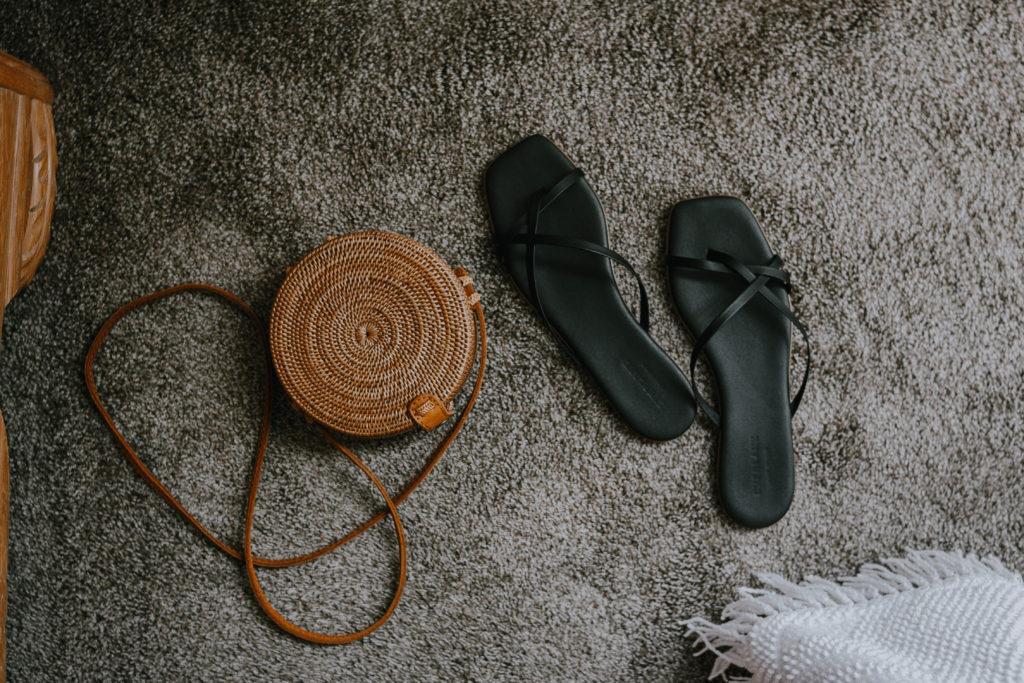 Everlane Sandal Comparison: strappy black sandals