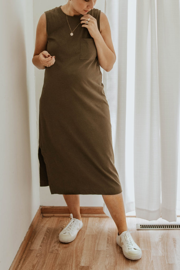 Tank Dress and Sneakers