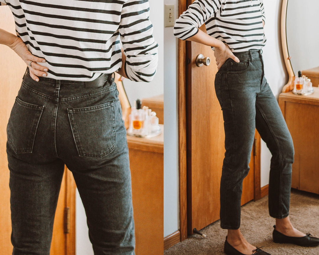 A review of the Everlane Cheeky Jean + EVERY other style of jean on the Everlane website! everlane denim, everlane 90s cheeky jean review, everlane denim guide