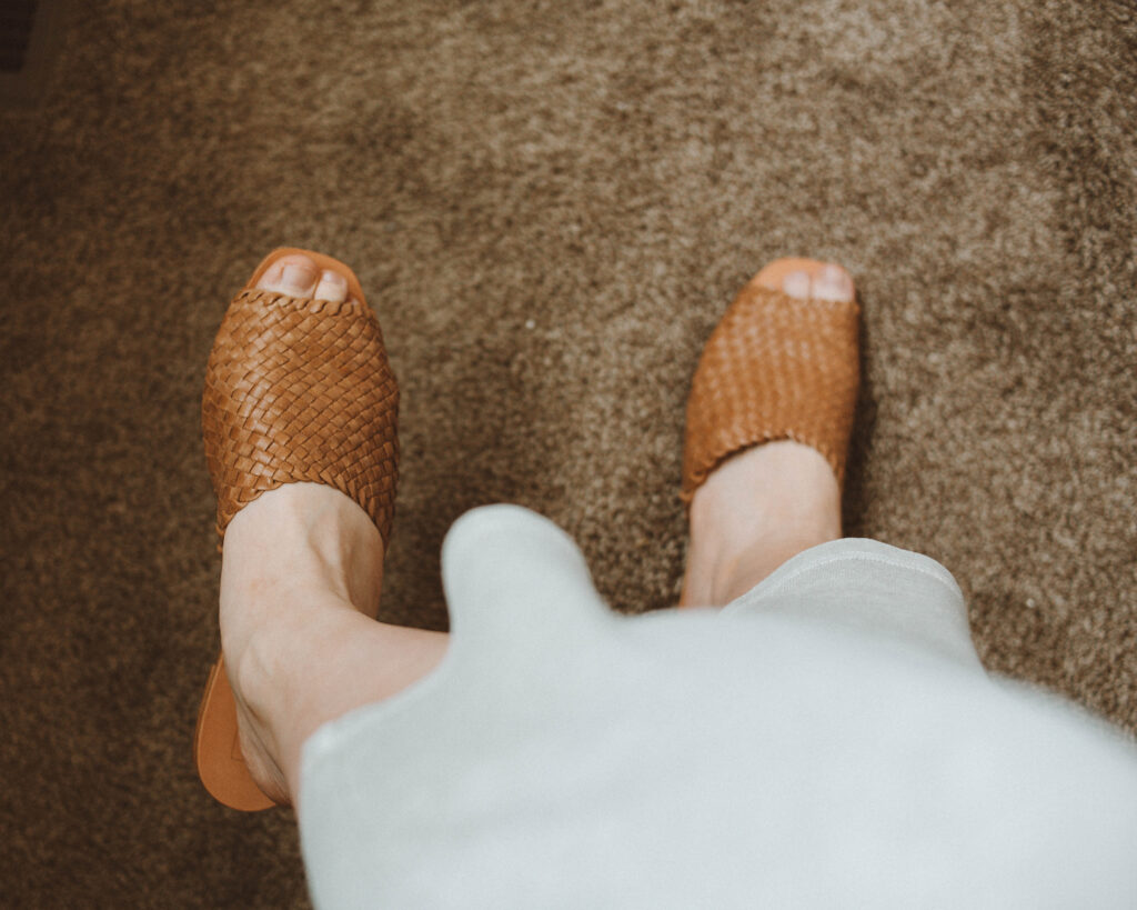 either/or the woven slide miel review