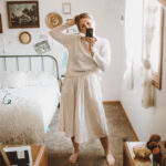 4 Comfy Lounge Wear Outfits That Will Keep You Feeling Cozy, it is well l.a. skirt, it is well l.a. top, cream skirt