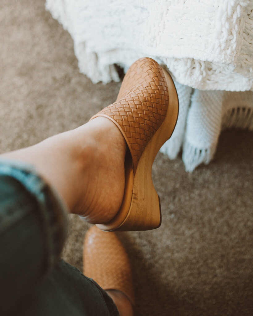 New in at Everlane: Styling Required, woven clog