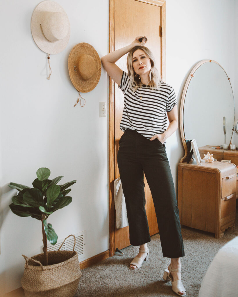 Styling a Basic Tee: 10 Different Outfit Ideas, mott and bow striped tee