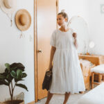 What's New at Everlane + 4 mini reviews, the tiered cotton dress