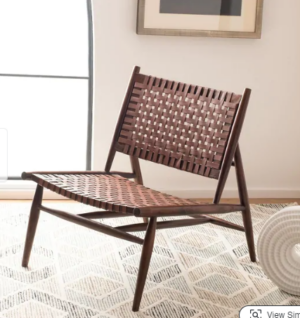 Safavieh Soleil Leather Woven Accent Chair