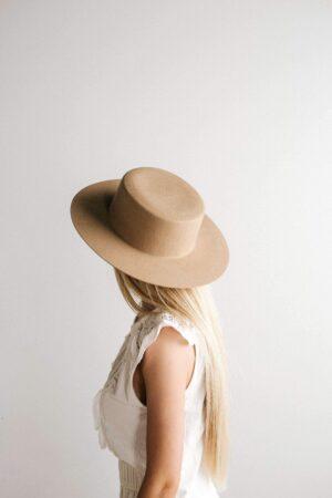 Gigi Pip Dahlia Boater Hat