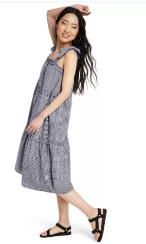 Target Gingham Tie Strap Dress
