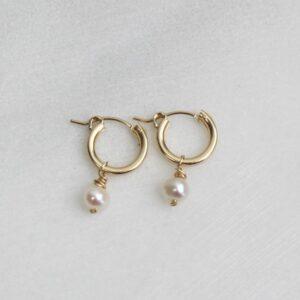 The Silver Wren Pearl Earrings