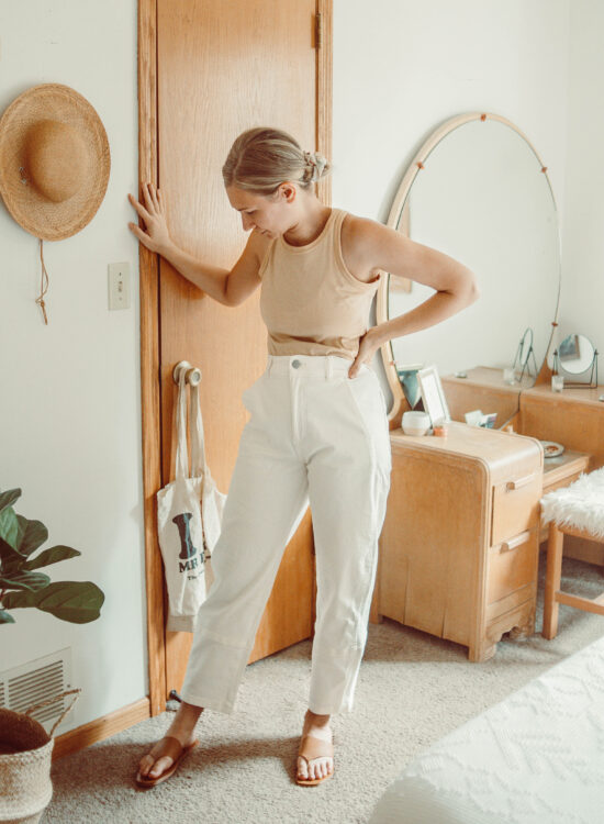 Everlane Summer Sale + A Few New Pieces, organic cutaway tank, barrell pant, the leather song sandal