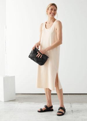 & Other Stories Organic Cotton Midi Dress
