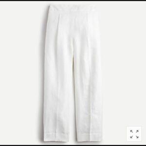 J. Crew White Pleated Pants