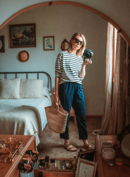 4 Ways to Wear Trousers, navy pull on trousers