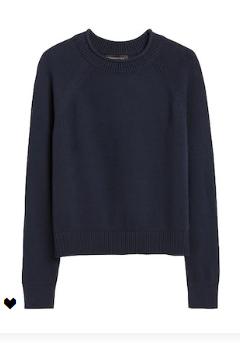 Banana Republic Navy Cotton Sweater