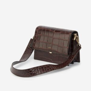 J W Pei Croc Flap Bag