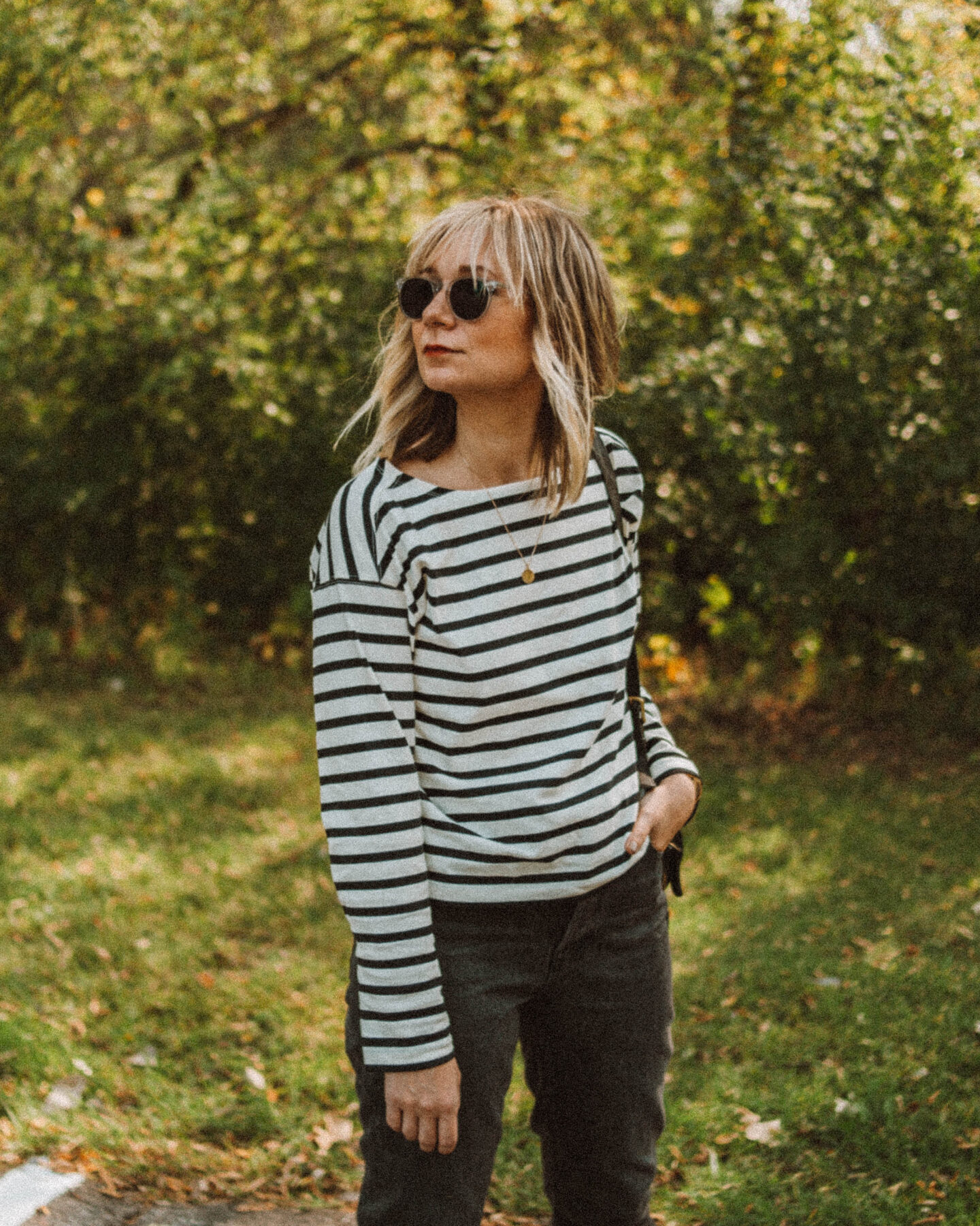 New in at Everlane: What I'm Loving for Fall, 90's cheeky jean, breton stripe tee, ballet flat, vintage coach