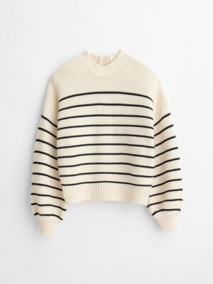 Alex Mills Button Back Crewneck Sweater