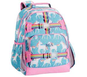 Pottery Barn Aqua Unicorn Packpack