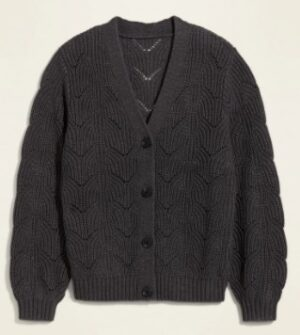 Old Navy Pointelle Knit Cardigan