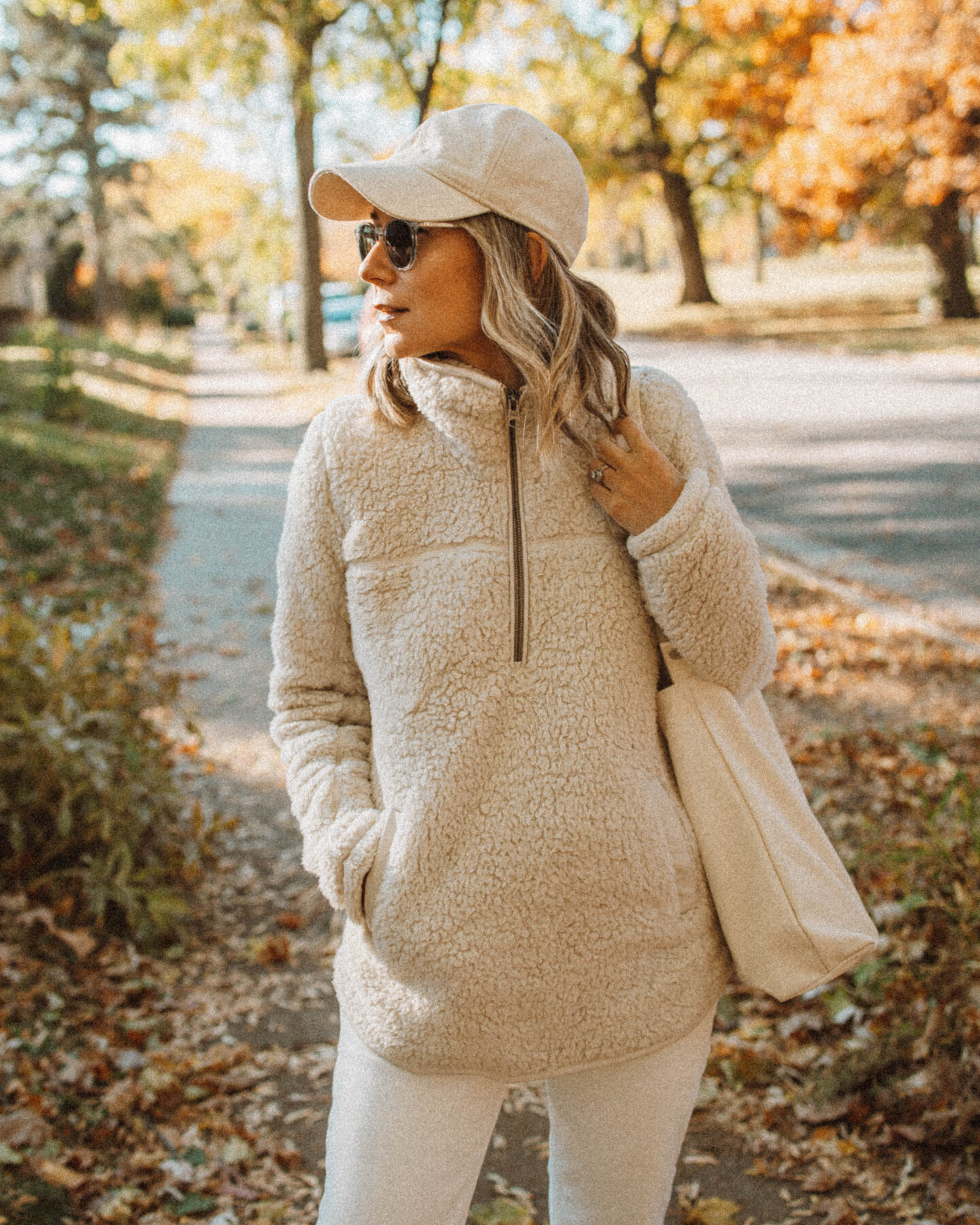 Monochrome Outfit Ideas you can Style for Real Life, Sherpa Pullover