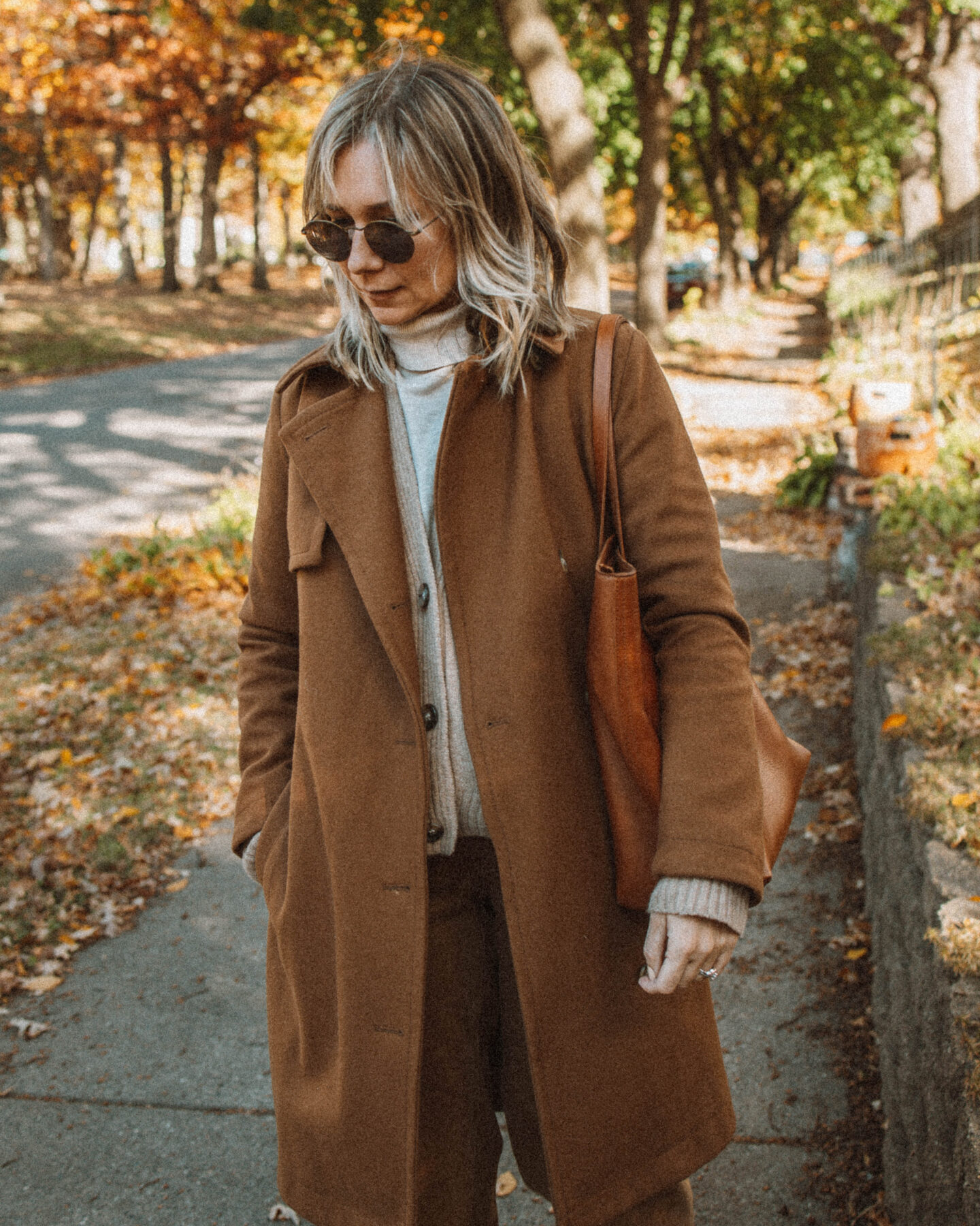 Monochrome Outfit Ideas you can Style for Real Life, Camel Trench Coat