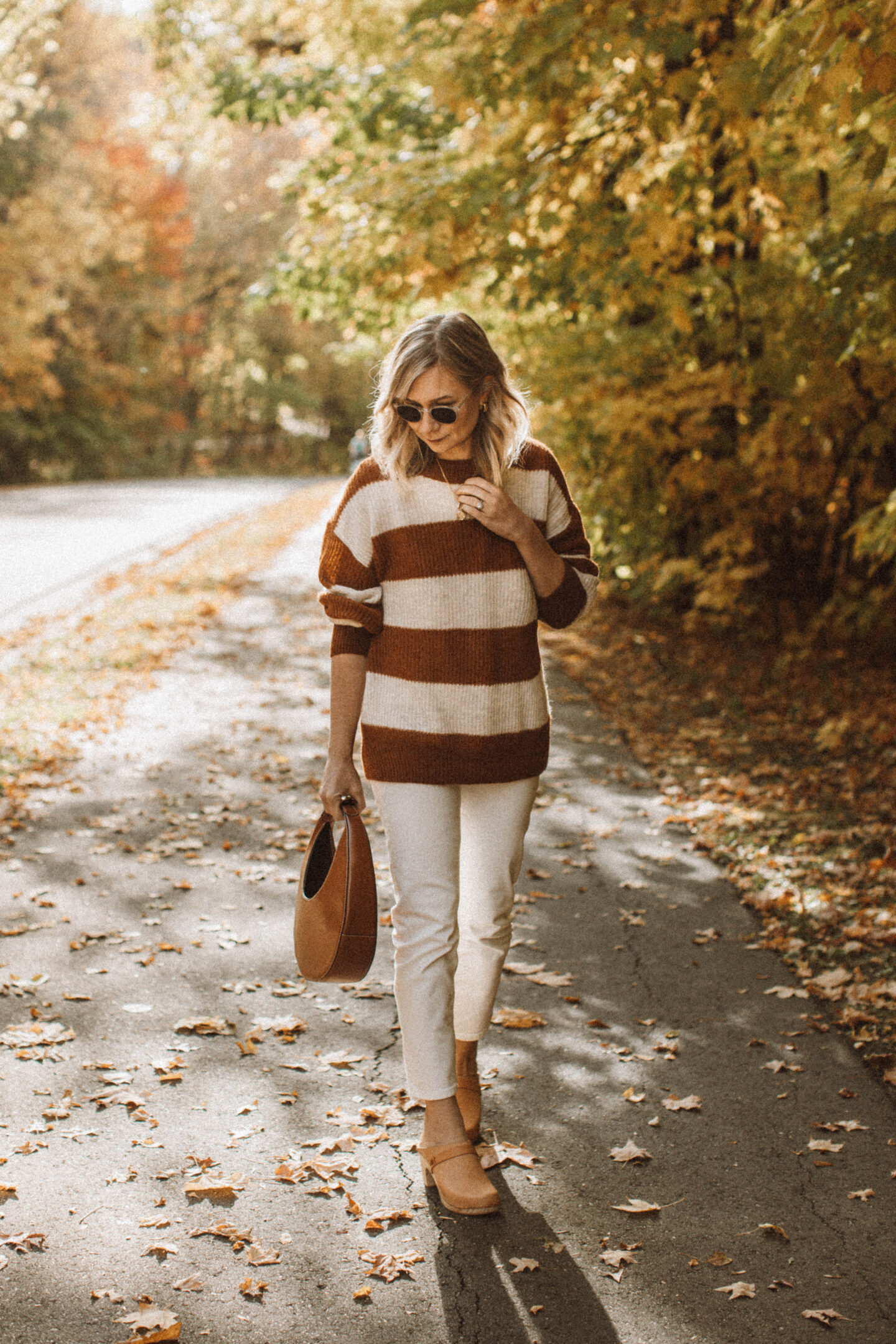 How to Style White Jeans for Fall, everlane oversized alpaca crew