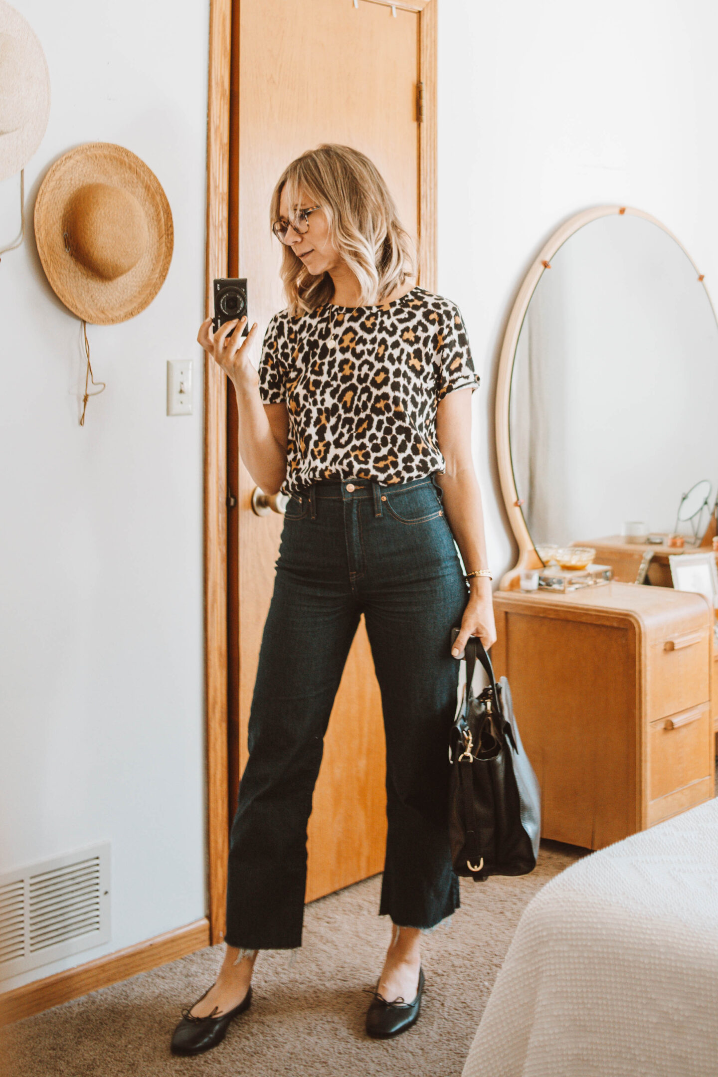 Week of Outfits + 3 Ways to Wear Knee High Boots, Leopard Print Tee