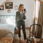 what I wore in a week, madewell demi boot crop, madewell sweater, staud moon bag