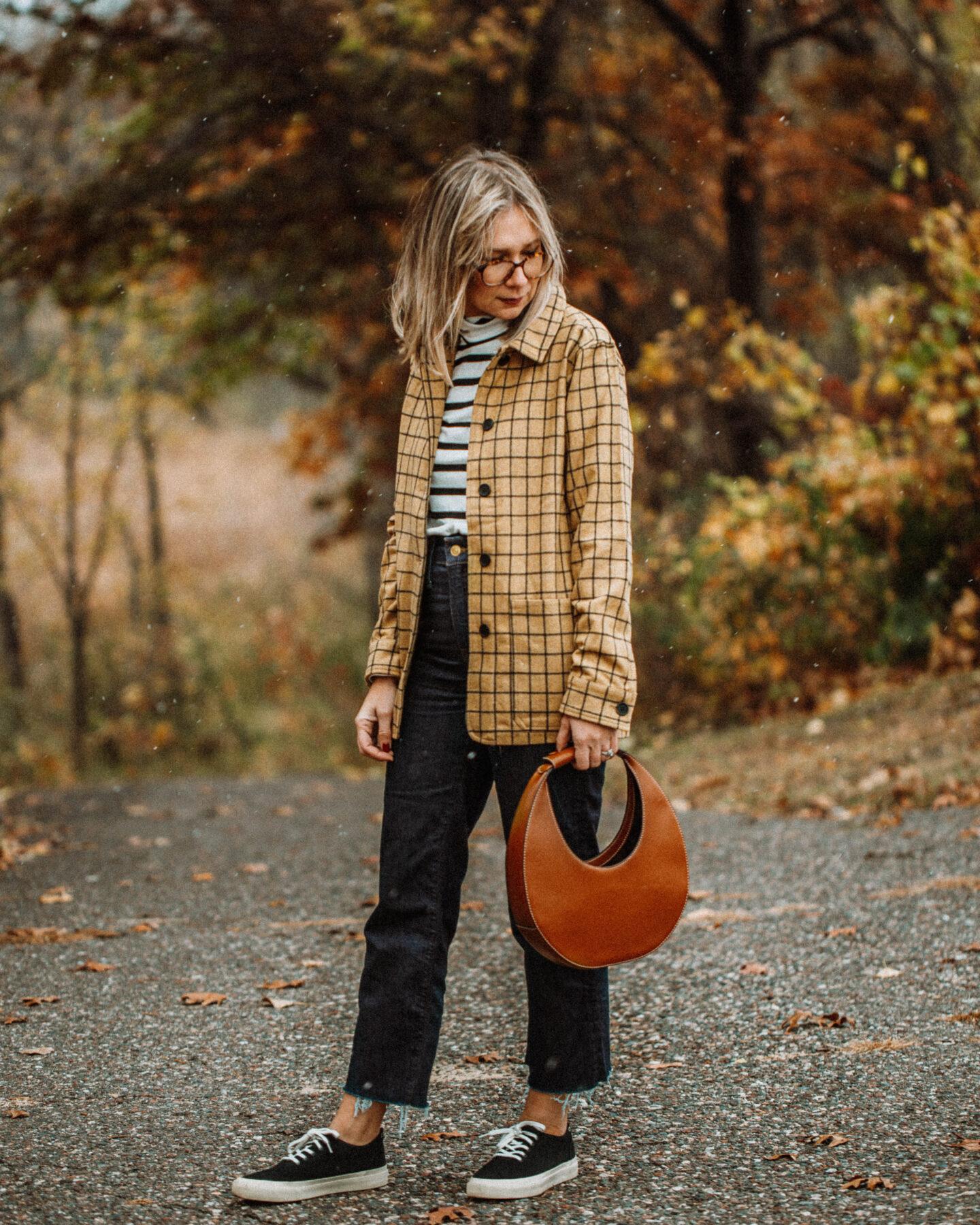 Tradlands Cozy Pieces Review, Monty Striped Turtleneck, Field Chore Coat Mesa