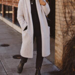 Oversized Cardigan, Cream and Black, Vince Cardigan, Tradlands Haven Sweater, Everlane 90's cheeky, black western boot