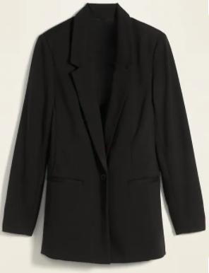 Old Navy Ponte-Knit Black Blazer