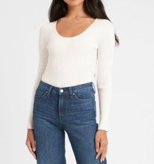 Banana Republic Fitted Scoop Neck Sweater