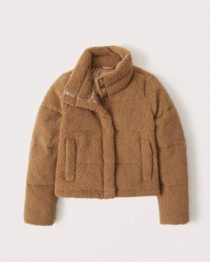 Abercrombie & Fitch Sherpa Puffer Coat