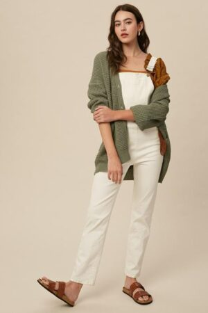 Janelle Skinny White Overalls