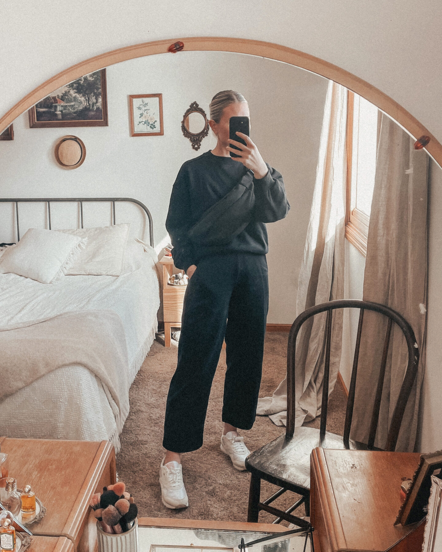 everlane organic track collection, everlane loungewear, lounge set, sweat suit