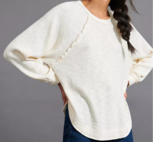 Anthropologie Ruffled Pullover