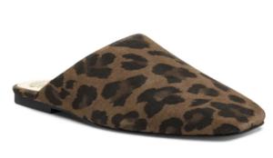 Vince Camuto Leopard Suede Mule