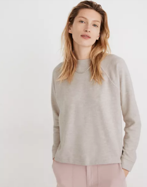 Madewell (Re)sourced Plush Mockneck Button Back Top