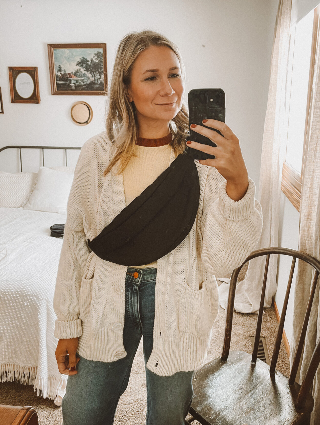 fanny pack review, everlane woven crossbody