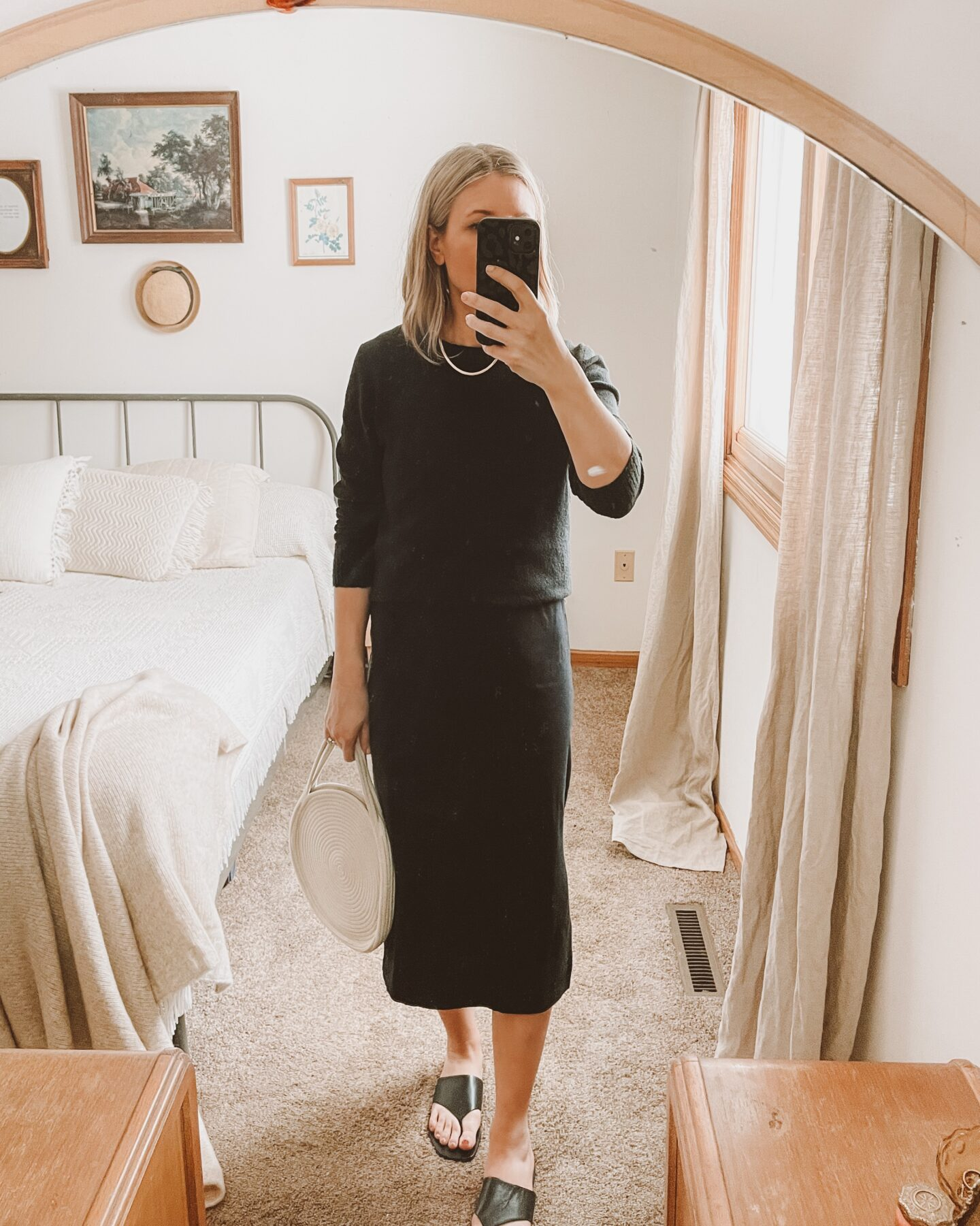 4 ways to style your favorite black midi dress