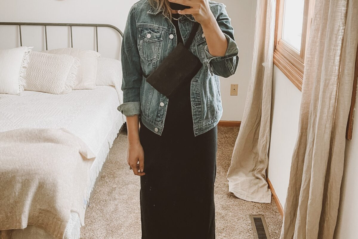 4 ways to style your favorite black midi dress