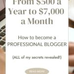 blogging tips, how to make money as a blogger, how to become a full time blogger, how to become a professional blogger