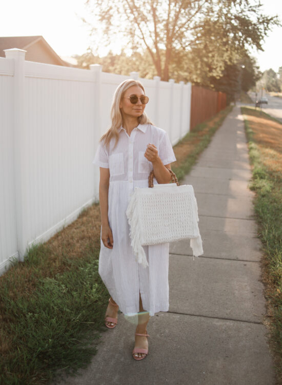 The Cutest White Shirt Dress for Spring and Summer